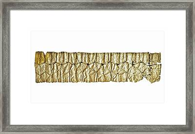Silver Aramaic Magic Amulet Framed Print by Photostock-israel