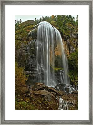 Silver Falls Framed Print by Adam Jewell