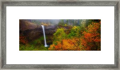 Silver Falls Pano Framed Print by Darren  White