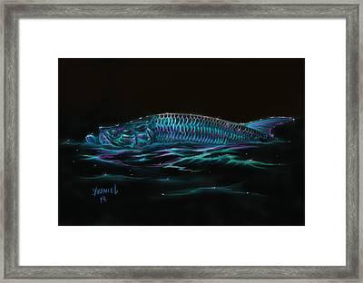 Silver Flash Framed Print by Yusniel Santos
