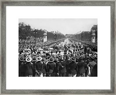 Silver Jubilee Procession Framed Print by Underwood Archives