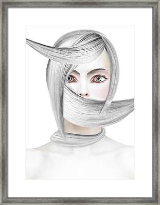 Silver One Framed Print by Yosi Cupano