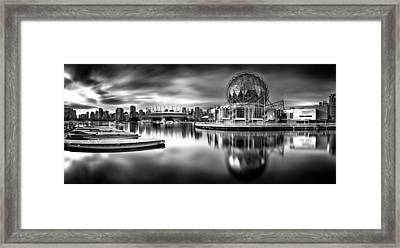Silver-plated Vancouver Framed Print by Alexis Birkill