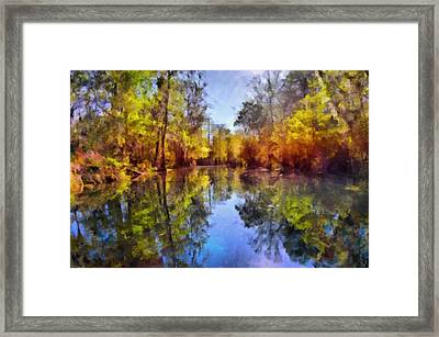 Silver River Colors Framed Print by Christine Till