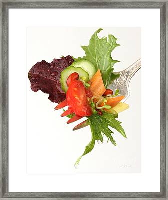 Silver Salad Fork Framed Print by Iris Richardson