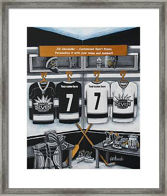 Silver Seven Framed Print by Jill Alexander