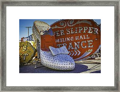Silver Slipper Framed Print by Garry Gay