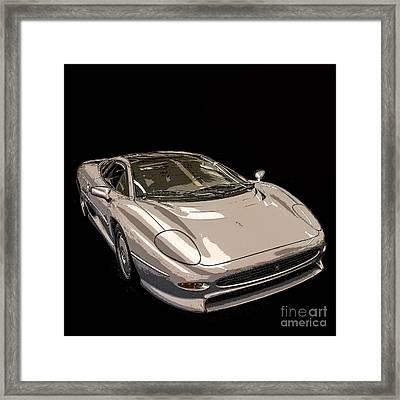 Silver Sports Car Framed Print by Edward Fielding