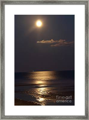 Silvered Sea Framed Print by Frances Marian Lewis
