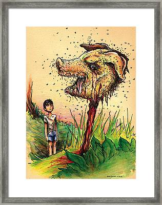 Simon And The Beast Framed Print by John Ashton Golden