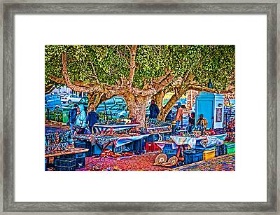 Simon's Town Market Framed Print by Cliff C Morris Jr