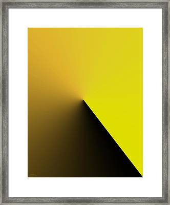 Simple Geometric Solution In Yellow Framed Print by Mario Perez