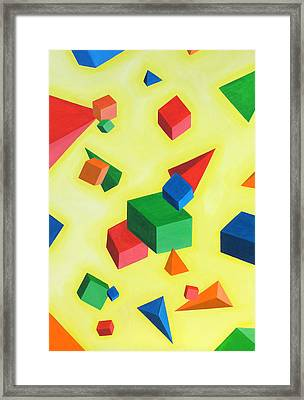 Simple Geometry Framed Print by Sven Fischer
