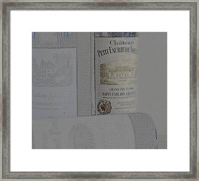 Simple Saint Emilion Framed Print by Georgia Fowler