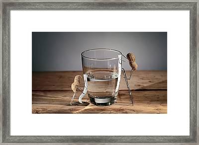 Simple Things - Half Empty Or Half Full Framed Print by Nailia Schwarz