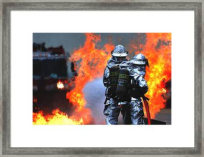 Simulated C-130 Hercules Crash, Osan Framed Print by Science Source