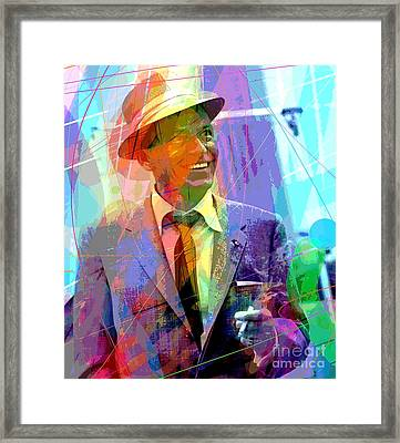 Sinatra Swings Framed Print by David Lloyd Glover