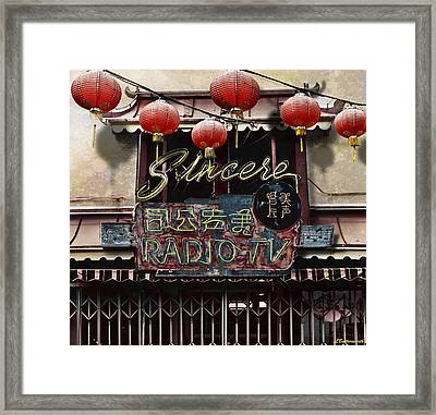 Sincere Radio Tv Framed Print by Larry Butterworth