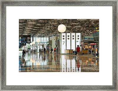 Singapore Changi Airport 02 Framed Print by Rick Piper Photography