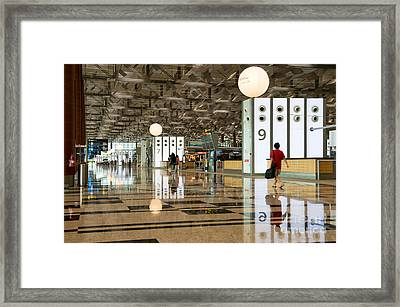 Singapore Changi Airport 03 Framed Print by Rick Piper Photography