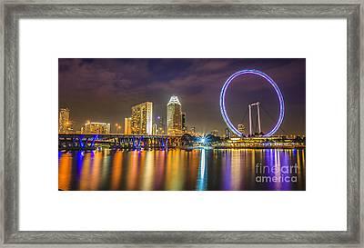 Singapore Flyer  Framed Print by Anek Suwannaphoom