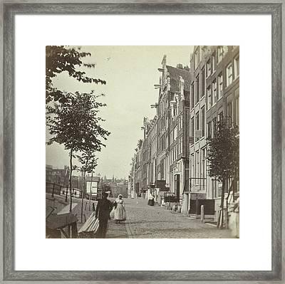 Singel Over The Warmoesgracht, Nowadays The Raadhuisstraat Framed Print by Artokoloro