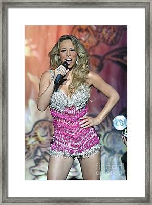 Singer Mariah Carey Framed Print by Concert Photos