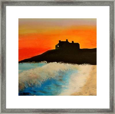Singing Beach Framed Print by Mark Prescott Crannell