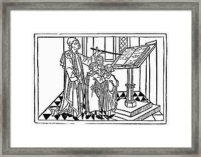 Singing Lesson, C1475 Framed Print by Granger