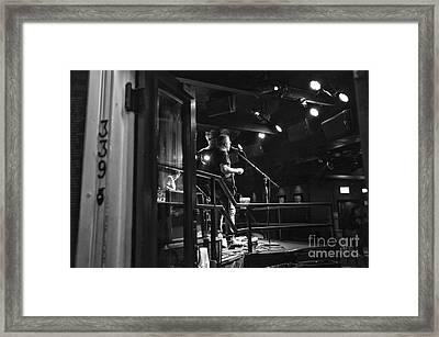 Singing On Bourbon Street Mono Framed Print by John Rizzuto