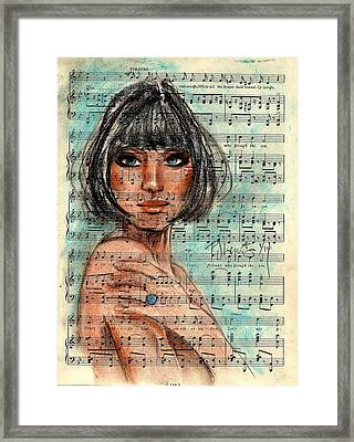 Singing The Blues Framed Print by P J Lewis