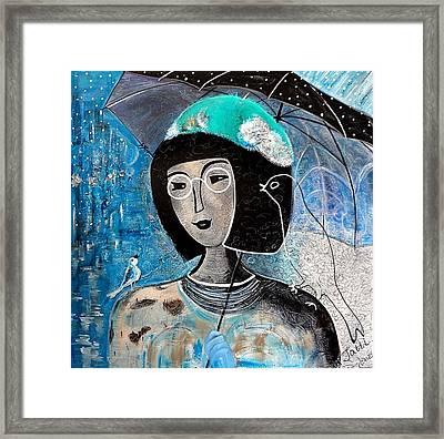 Singing Under The Rain Framed Print by Tatiana Tatti Lobanova