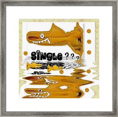 Single Shark Pop Art Framed Print by Pepita Selles