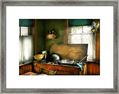 Sink - The Kitchen Sink Framed Print by Mike Savad