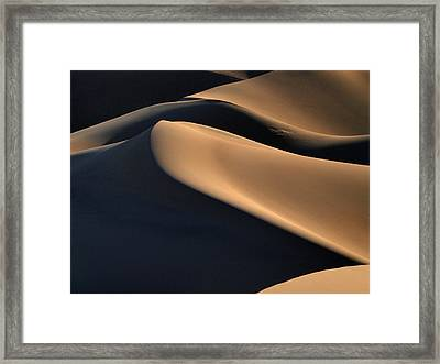 Sinuous Dunes. Death Valley California.  Framed Print by Joe Schofield