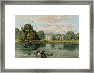 Sion House, Engraved By Robert Havell Framed Print by William Havell