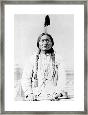Sioux Chief Sitting Bull Framed Print by War Is Hell Store