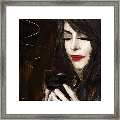 Sip Of Relaxation Framed Print by Lourry Legarde