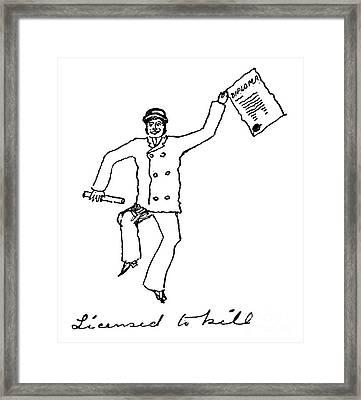 Sir Arthur Conan Doyle Framed Print by Granger