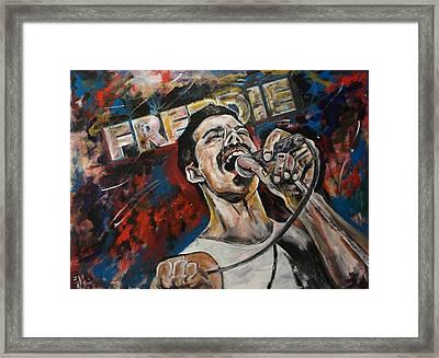 Sir Freddie Sings On Framed Print by John Barth