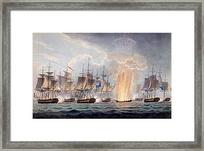 Sir Graham Moores Action Off Cape St Framed Print by English School