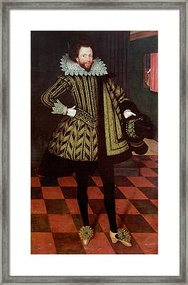 Sir John Kennedy Of Barn Elms, 1614 Framed Print by Marcus, the Younger Gheeraerts