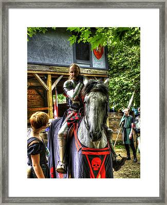 Sir Lancelot Du Lac Framed Print by John Straton