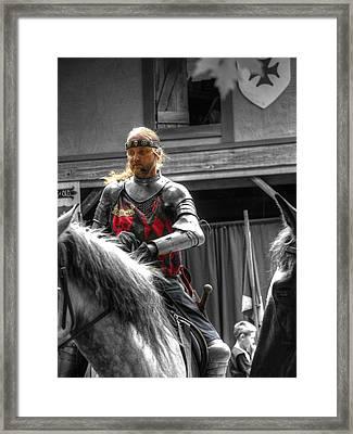 Sir Lancelot Du Lac - V3 Framed Print by John Straton
