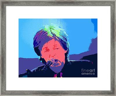 Sir Paul Pop Art Framed Print by Tina M Wenger
