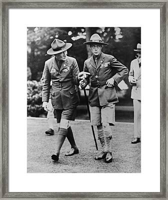 Sir Robert Baden-powell Framed Print by Underwood Archives