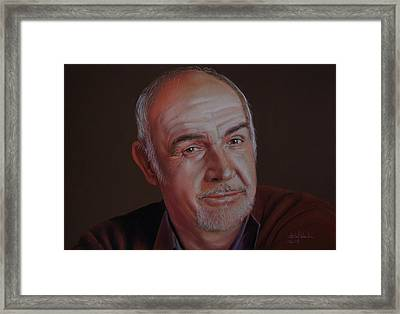 Sir Sean Connery Framed Print by Isabel Salvador