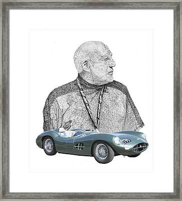 Sir Stirling Moss 1957 Aston Martin Framed Print by Jack Pumphrey
