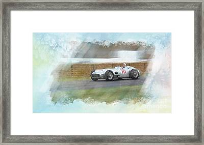 Sir Stirling Moss Framed Print by Roger Lighterness
