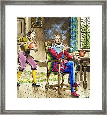 Sir Walter Raleigh From Peeps Framed Print by Trelleek